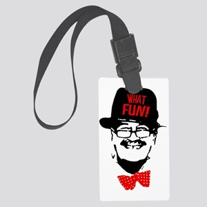 what fun red Large Luggage Tag