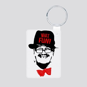 what fun red Aluminum Photo Keychain