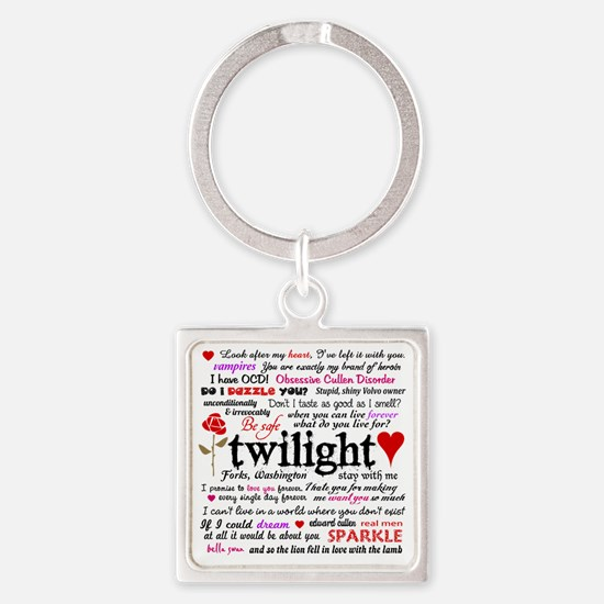 Twilight Quotes Square Keychain