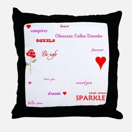 Twilight Quotes -dk Throw Pillow
