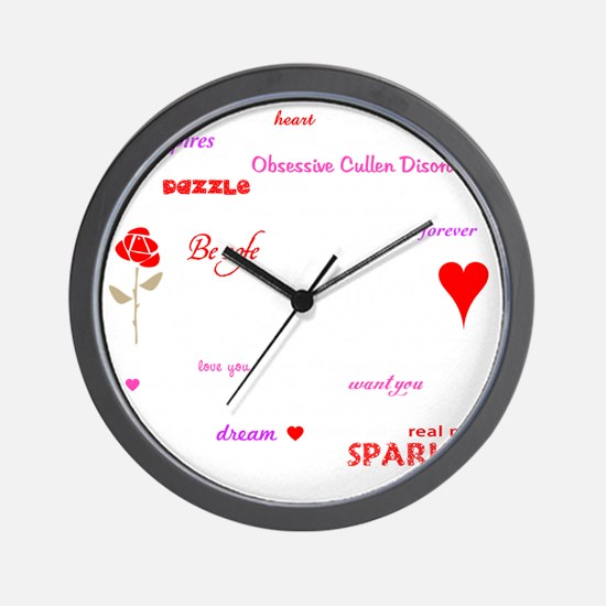 Twilight Quotes -dk Wall Clock