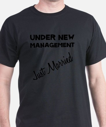 Dry Just Married Black T-Shirt