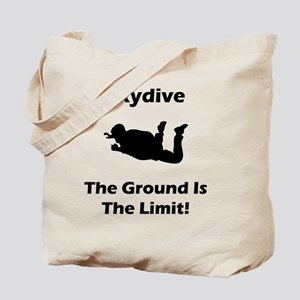 Dry Skydive Ground Limit Black Tote Bag