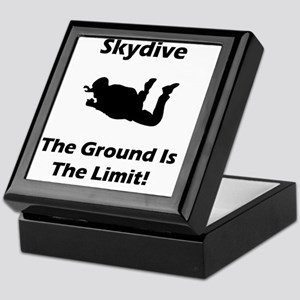 Dry Skydive Ground Limit Black Keepsake Box