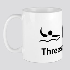 Dry Triathlon Threesome Black Mug