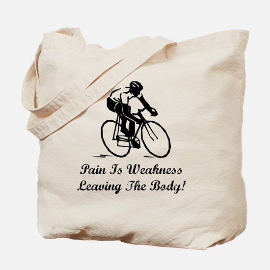 Dry Pain Is Weakness Black Tote Bag