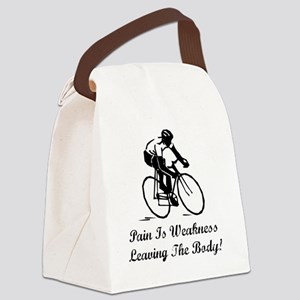 Dry Pain Is Weakness Black Canvas Lunch Bag