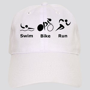 Dry Swim Bike Run Black Cap