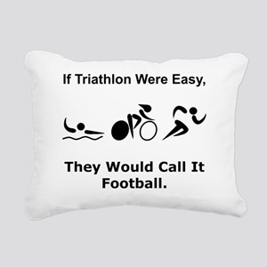 Dry Triathlon Football B Rectangular Canvas Pillow