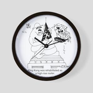 6322_roofing_cartoon Wall Clock