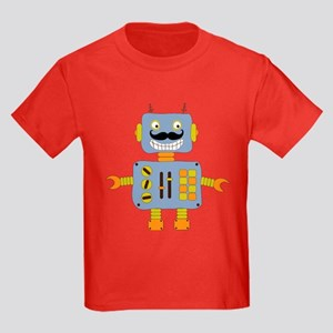 Mobot Moustache Robot Kids Dark T-Shirt