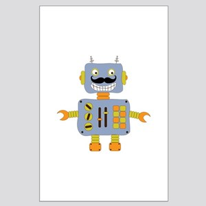 Mobot Moustache Robot Large Poster
