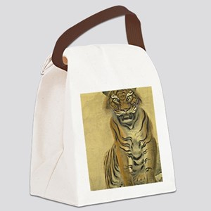 Tiger-Japanese-Print-iPad-Case Canvas Lunch Bag