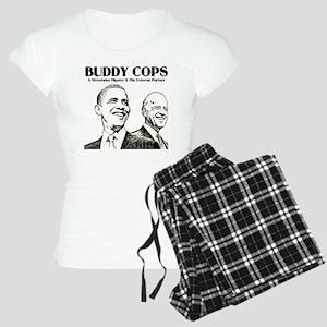 Obama Biden Buddy Cops Women's Light Pajamas