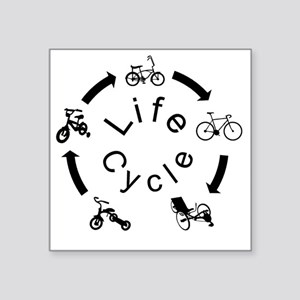 "life Cycle3 Square Sticker 3"" x 3"""