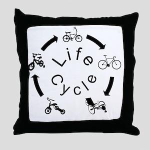 life Cycle3 Throw Pillow