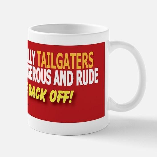 Anti-Tailgating Bumper Sticker Mug