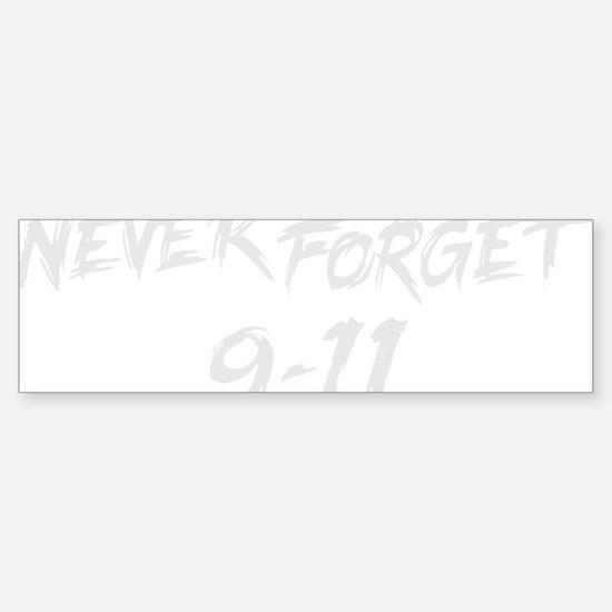 NeverForget9-11 Sticker (Bumper)