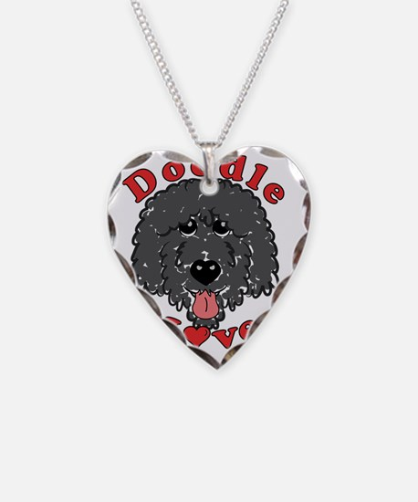 Doodle Love Curly Really Blac Necklace