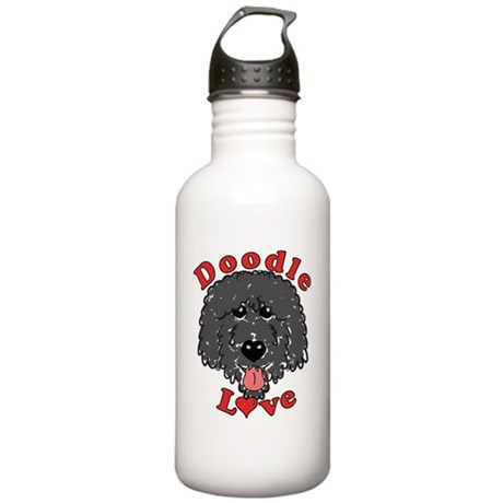 Doodle Love Curly Real Stainless Water Bottle 1.0L