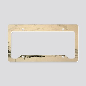 14x6_smallFramedPrint_windmil License Plate Holder