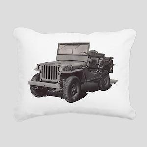 WWII COMMAND RECONNAISSA Rectangular Canvas Pillow