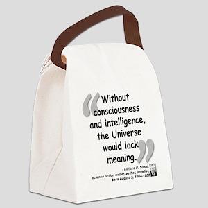 Simak Universe Quote Canvas Lunch Bag
