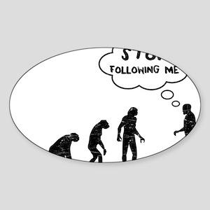 evolution1 Sticker (Oval)