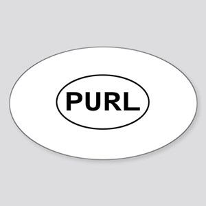 Knitting - Purl Oval Sticker