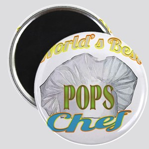 WORLDS BEST POPS / CHEF Magnet