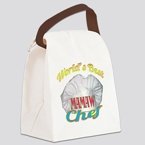 WORLDS BEST MAMAW / CHEF Canvas Lunch Bag