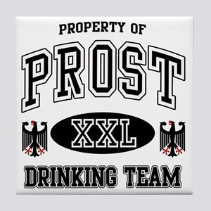 Prost German Drinking Team Tile Coaster