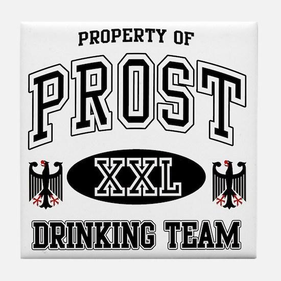 Prost German Drinking Team Tile Coaster