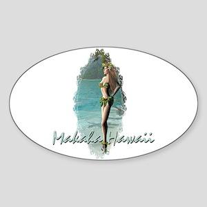 Makaha Oval Sticker