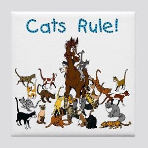 Cats and Horse Tile Coaster