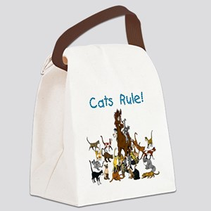 Cats and Horse Canvas Lunch Bag