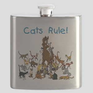 Cats and Horse Flask