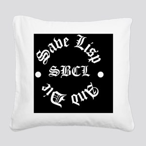 slad-solid Square Canvas Pillow