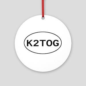 Knitting - K2TOG Ornament (Round)