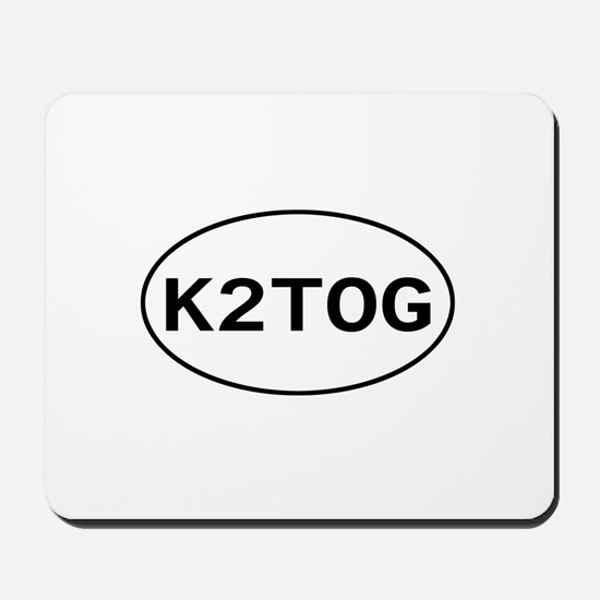Knitting - K2TOG Mousepad