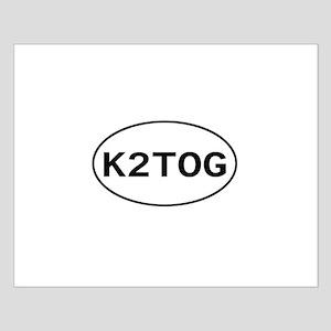 Knitting - K2TOG Small Poster