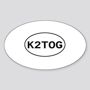 Knitting - K2TOG Oval Sticker