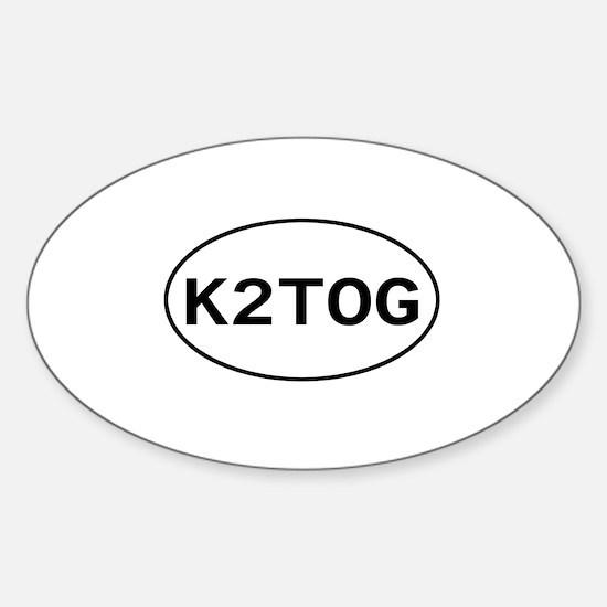 Knitting - K2TOG Oval Decal
