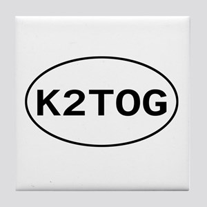 Knitting - K2TOG Tile Coaster