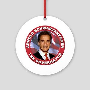 "Arnold ""Govenator"" Schwarzenegger Ornament (Round)"