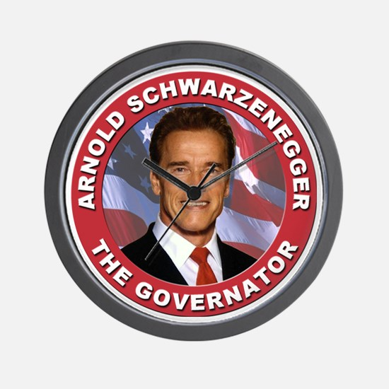 "Arnold ""Govenator"" Schwarzenegger Wall Clock"