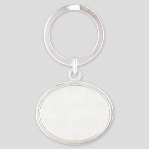 ageisanumberwhite Oval Keychain