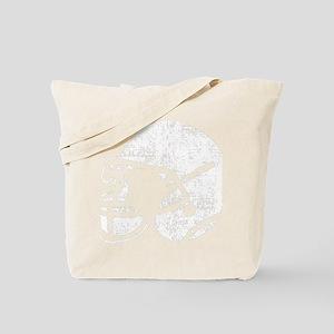 Helmet Vintage White Tote Bag