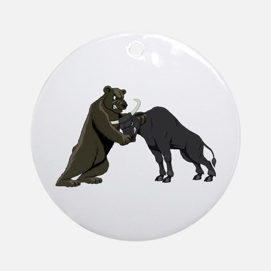 Bull vs. Bear Markets Ornament (Round)