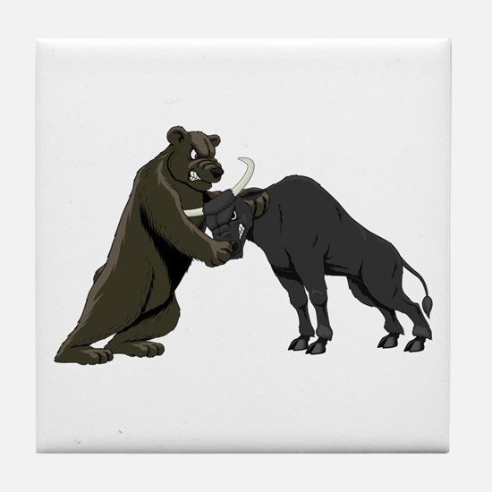 Bull vs. Bear Markets Tile Coaster